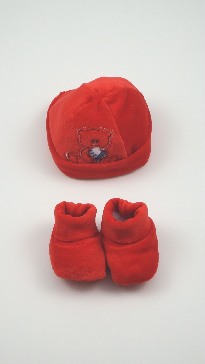 Cuffia Calze Neonato Ciliegina 2930