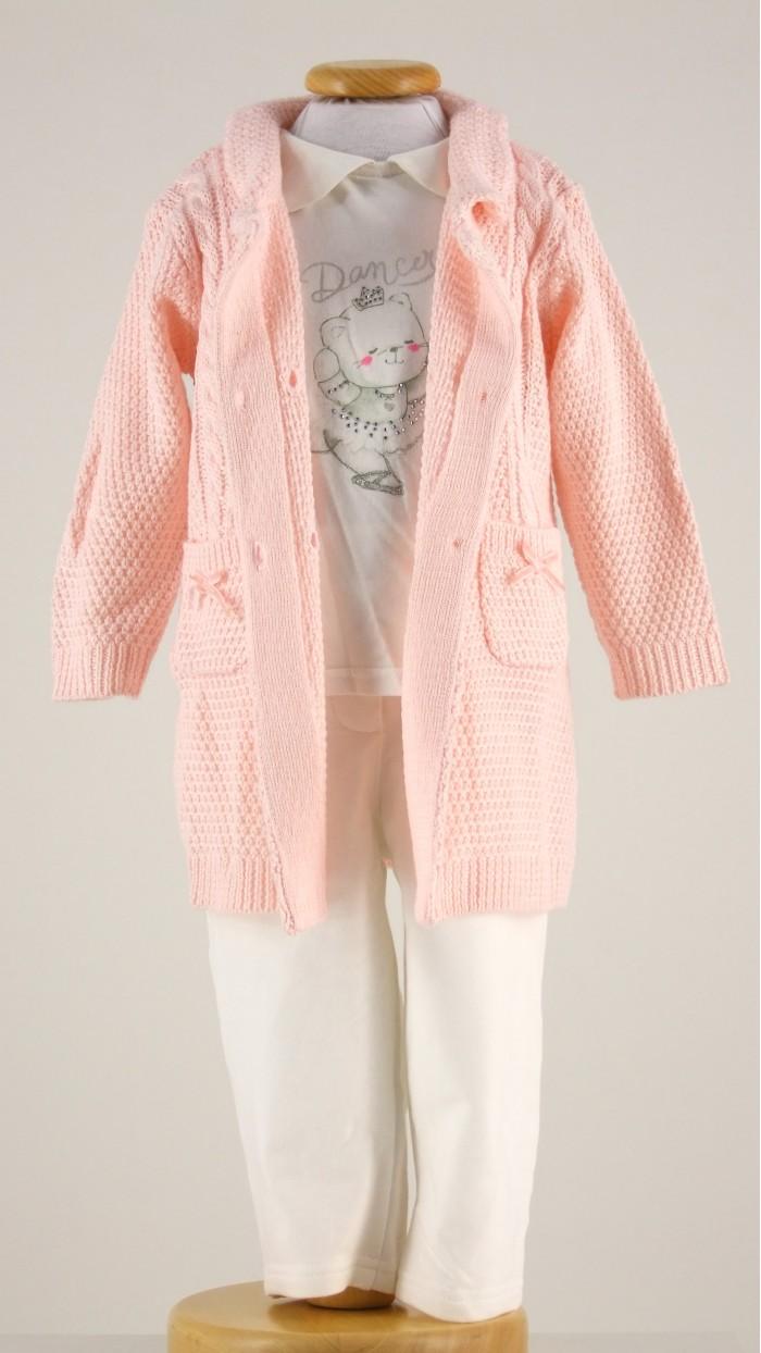 Completo Neonata Cappotto Maglietta Pantaloni TDM-Mini 00111