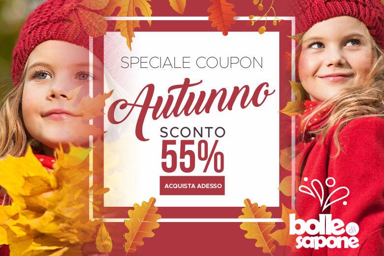Grande Offerta D'Autunno Codice Coupon Sconto -55% - Bolle di Sapone Abbigliamento