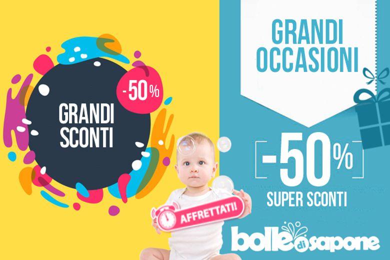 Grandi Sconti -50% Abbigliamento Bambini e Neonati - Bolle di Sapone®